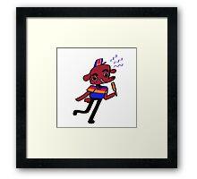 Weiner Dawg! (red) Framed Print