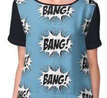 Hero, Comic, Superhero, Super, Winner, Superheroes, Chef, Boss Chiffon Top