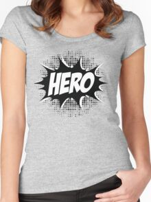 Hero, Comic, Superhero, Super, Winner, Superheroes, Chef, Boss Women's Fitted Scoop T-Shirt
