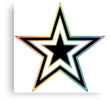 rainbow star Canvas Print