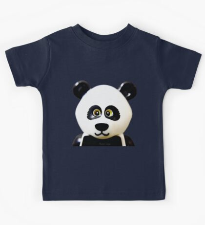 Cute Lego Panda Guy Kids Tee