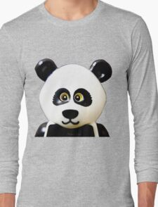 Cute Lego Panda Guy Long Sleeve T-Shirt