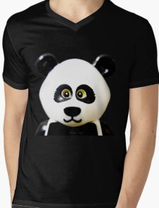 Cute Lego Panda Guy Mens V-Neck T-Shirt