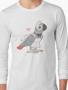 African Grey Maid Long Sleeve T-Shirt