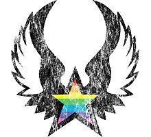 winged rainbow starz Photographic Print