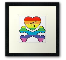 heart and crossbones Framed Print