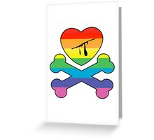 heart and crossbones Greeting Card