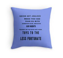 TOYS T0 THE LESS FORTUNATE Throw Pillow