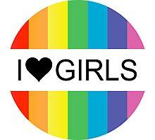 i heart girls Photographic Print
