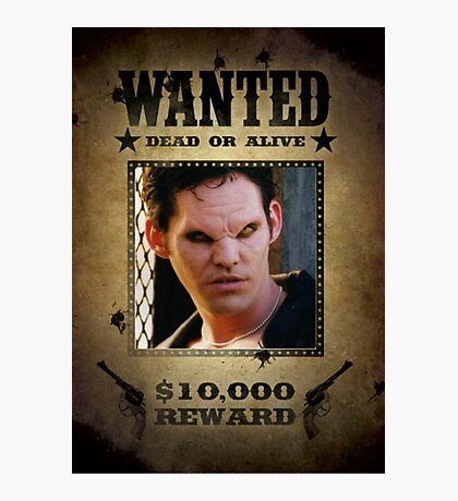 Buffy Xander Wanted 1 Photographic Print
