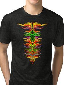 Color your life! Rainbow, Music, Trance, Techno, Rave, Goa, Holi Festival Tri-blend T-Shirt