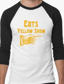 Eats yellow snow Men's Baseball ¾ T-Shirt
