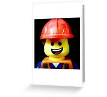 Hard Hat Emmet Greeting Card