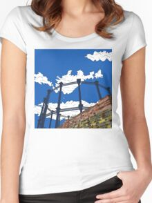 Regent's Canal Gas Tower Women's Fitted Scoop T-Shirt