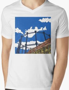 Regent's Canal Gas Tower Mens V-Neck T-Shirt