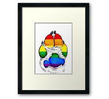 Gay pride paw Framed Print