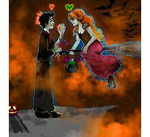 Halloween Picnic Photographic Print
