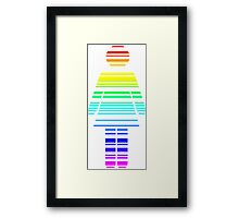 rainbow barcode girl Framed Print