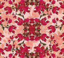 Retro Vintage Floral Motif by DFLC Prints