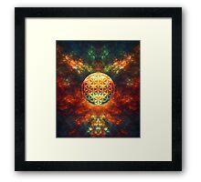 Centered Reality (Flower Of Life) Framed Print