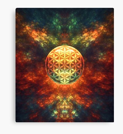 Centered Reality (Flower Of Life) Canvas Print