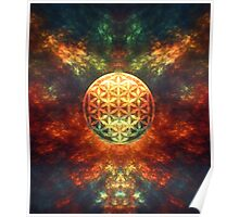 Centered Reality (Flower Of Life) Poster