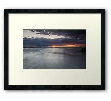 Sunrise at Honeymoon Bay, Moreton island Framed Print