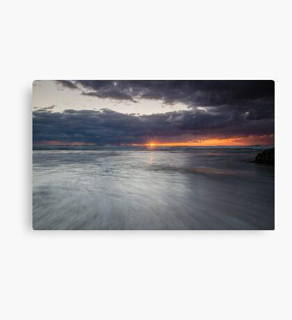 Sunrise at Honeymoon Bay, Moreton island Canvas Print