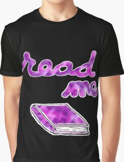 Read Me in Purple Graphic T-Shirt