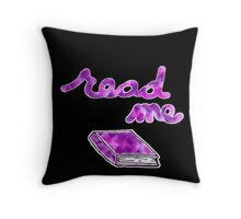 Read Me in Purple Throw Pillow