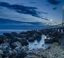 Sunrise at Wellington Point Jetty, Queensland, Australia by Ann Pinnock