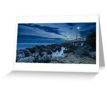 Sunrise at Wellington Point Jetty, Queensland, Australia Greeting Card
