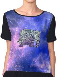 Elephant Design Chiffon Top