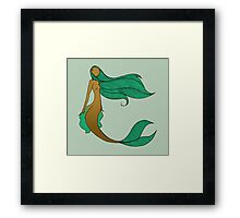 Mermaid Series - Wistful Framed Print