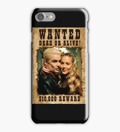 Buffy Spike Harmony Wanted iPhone Case/Skin
