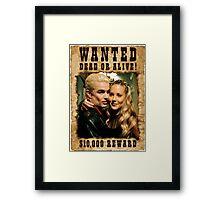 Buffy Spike Harmony Wanted Framed Print