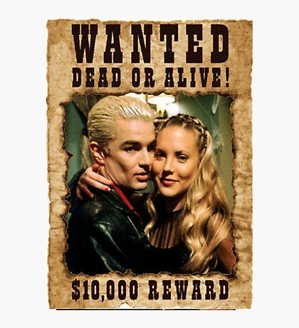 Buffy Spike Harmony Wanted Photographic Print