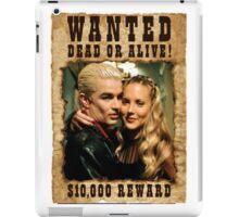 Buffy Spike Harmony Wanted iPad Case/Skin