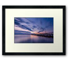 Sunrise at Wellington Point Jetty, Queensland, Australia Framed Print