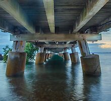 Underneath Wellington Point Jetty, Queensland, Australia by Ann Pinnock