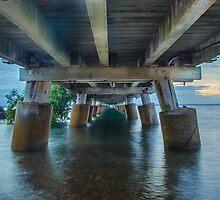 Underneath Wellington Point Jetty, Queensland, Australia by Ann Pinnock