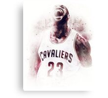 Lebron James Cleveland Basketball Art Finals  Canvas Print