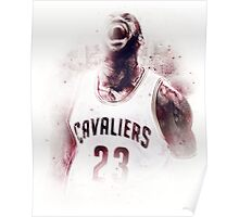 Lebron James Cleveland Basketball Art Finals  Poster