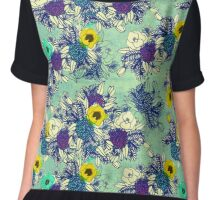 Botanical Blues ligth Chiffon Top
