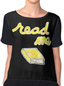 Read Me in Yellow Chiffon Top