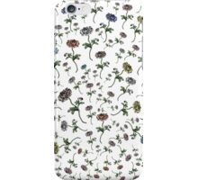 Scattered Flowers White iPhone Case/Skin