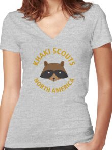 KHAKI SCOUTS Women's Fitted V-Neck T-Shirt