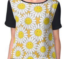 Smiling White Daisies Chiffon Top