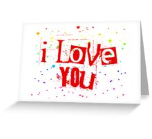 i love you rainbow hearts Greeting Card