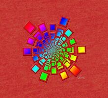 Colorful Square Fractal 61716 Tri-blend T-Shirt